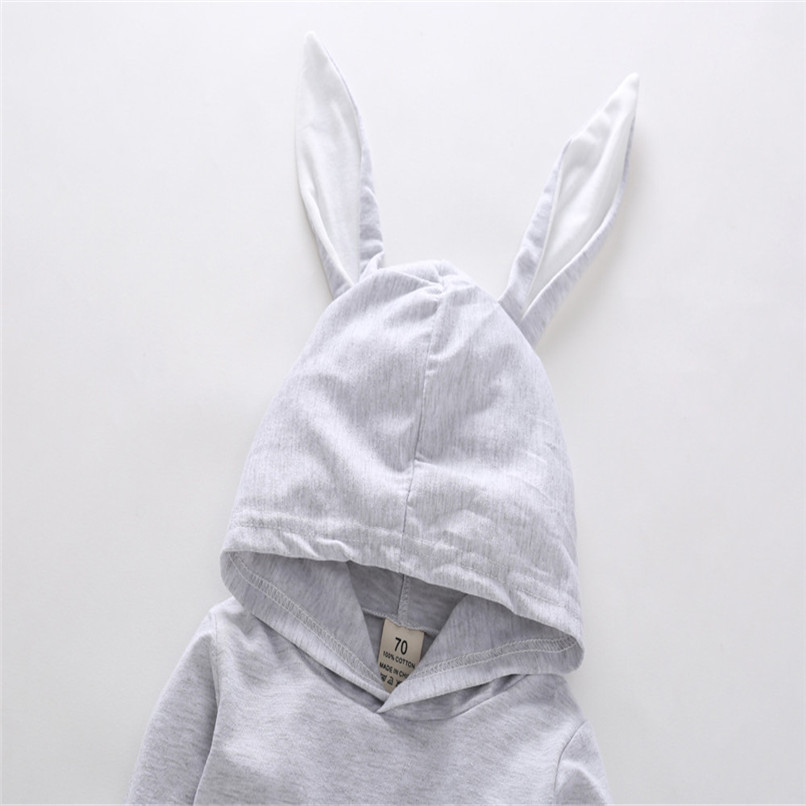2018 Baby Clothes Baby Romper Toddler Infant Baby Girl Boy Cartoon Rabbit Ear Long Sleeve Hooded Jumpsuit Romper Clothes JY12#F (12)