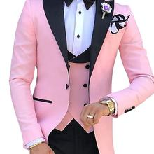 TPSAADE Menss 3 Pieces Suits for Men Custom Made Terno Slim Groom Cust
