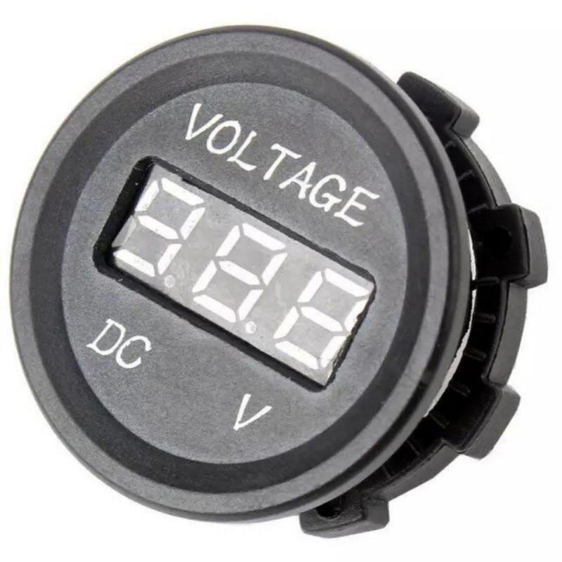 Professional Black 12 V-24 V DC LED Digital Display Auto Car Motorcycle voltmeter Metro Waterproof Voltmeter Socket sj 028va 0 3 6 digital dc double show voltmeter amperemeter black