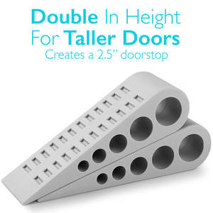 Stops Wedge Rubber Home-Protector Floor Wide-Door Heavy-Duty Environmental Extra Large