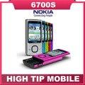 100% Original de la marca Nokia teléfono desbloqueado 6700 s, 3G, CÁMARA de 5MP camra, Quad-Band teléfono celular, rápido envío gratis Reacondicionado