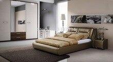 БОЛЬШОЙ мягкая кровать king size PU + ПВХ кожа мягкая кровать C361