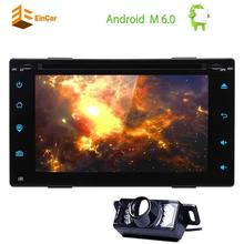"""Android 6.0 Double Din Car DVD Player 6.2"""" GPS Car Stereo In Dash Navigation Auto Radio Bluetooth WiFi Mirrorlink+Rear Camera"""