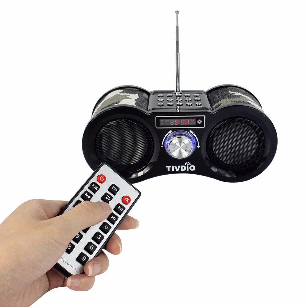 ФОТО Tivdio Stereo FM Radio Camouflage USB/TF Card Speaker MP3 Music Player with Remote Control Radio F9203M