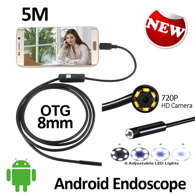 2MP HD720P 1M/2M/3.5M/5M Android USB Endoscope Camera Flexible Snake USB Inspection IP67 Waterproof Andorid USB Borescope Camera wifi 4 9mm lens ear nose medical usb endoscope borescope inspection otoscope camera for ios android pc