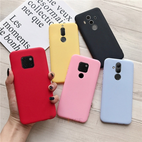 matte silicone phone case on for huawei mate 10 lite 20 lite mate20 mate10 lite 9 pro candy color soft tpu back cover fundas Multan