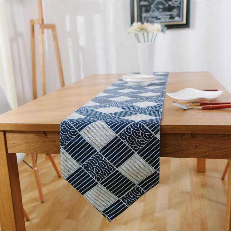 Burlap Home Decor: Aliexpress.com : Buy Navy Blue Table Runner Set Rustic