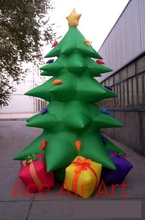 multicolor inflatable Christmas tree with gift boxes for Christmas