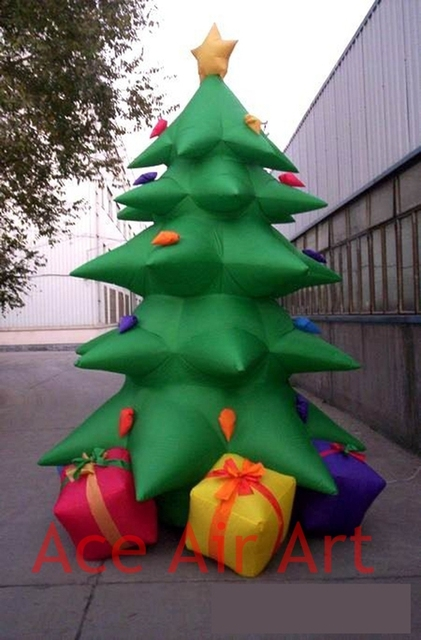Inflatable christmas tree with gifts
