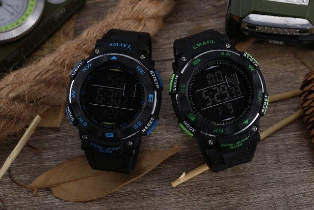 שעון דיגיטלי לצלילה עמיד למים 50M לגבר