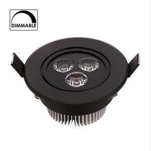 Lamp Led-Downlight Ceiling-Recessed-Spot Black 220V Round 9W 110V Dimmable Shell IP40
