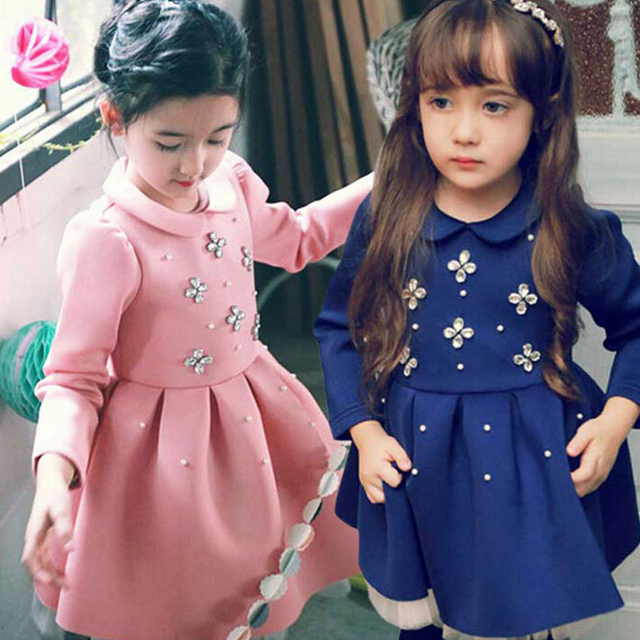 new fashion 100% Cotton Baby girl christmas dresses clothes Kids Children's Lovely princess Dress