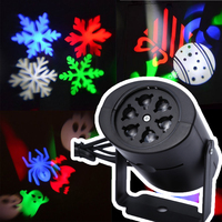 Laser Projector Lamps LED Stage Light Heart Snow Spider Bowknot Bat Christmas Party Landscape Light Garden