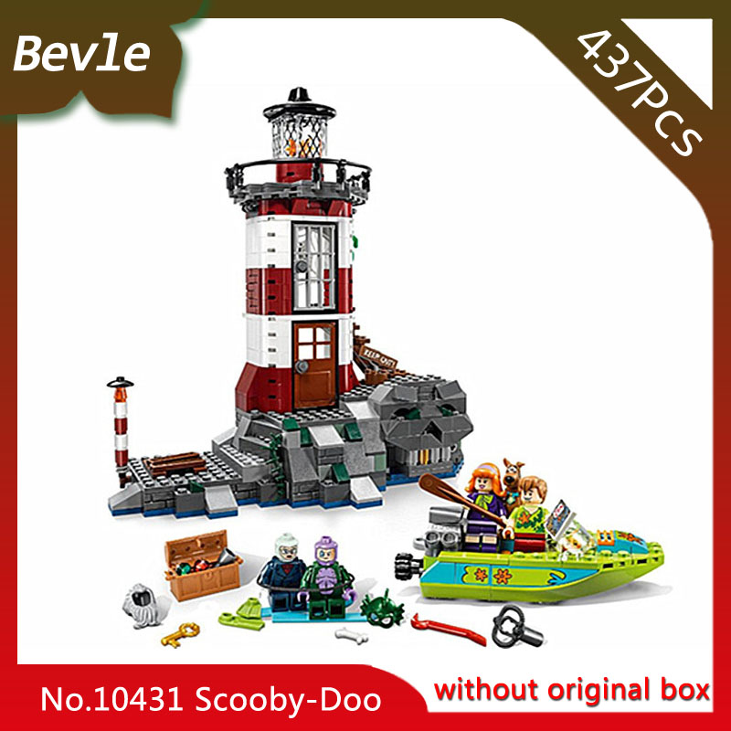 Doinbby Store Bela 10431 437pcs Scooby Doo Series Haunted lighthouse Model Building Blocks Set Bricks For Children  75903 bevle bela 10431 scooby doo haunted lighthouse shaggy daphne building block toys compatible with lepin scooby doo 79503