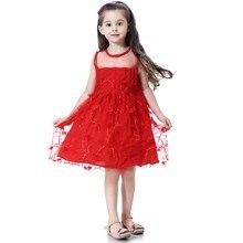 hot deal buy 2019 summer party dresses for girls wedding dresses lace floral decoration kids dresses summer sundress 2-11y baby girls dress
