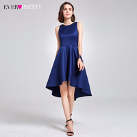 Cocktail Dresses Ever Pretty Sleeveless High Low Above Knee Asymmetrical Hem Round Neck Cocktail Party Dresses