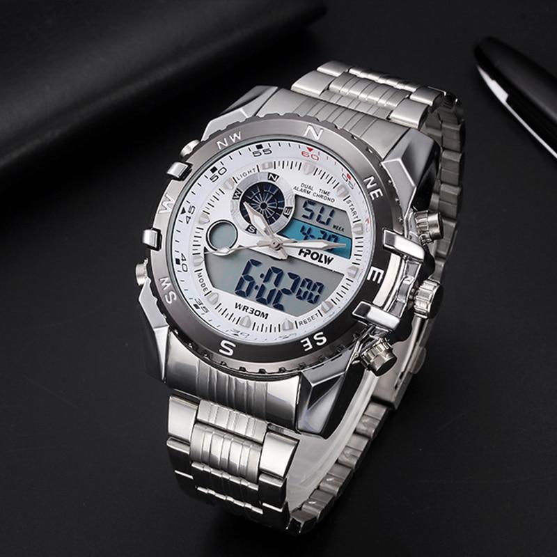 1d85a8b87613 Cheap Marca de lujo de HPOLW deportivos para hombre Relojes de cuarzo Digital  LED reloj militar