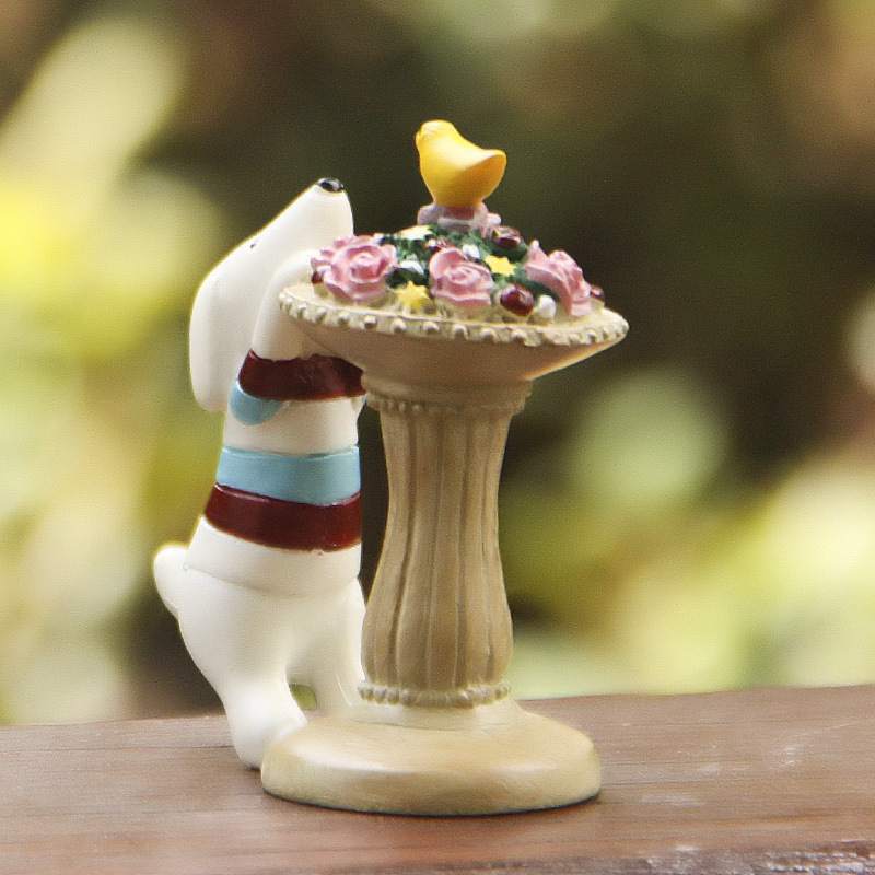 unids puppy dog maceta muebles de casa de muecas de hadas figurines jardim ornamento gnomo