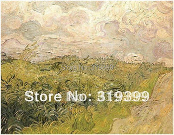 Linen Canvas Oil Painting reproduction,Green Wheat Fields by vincent van gogh,Museum quality,100% handmade,Free DHL Shipping