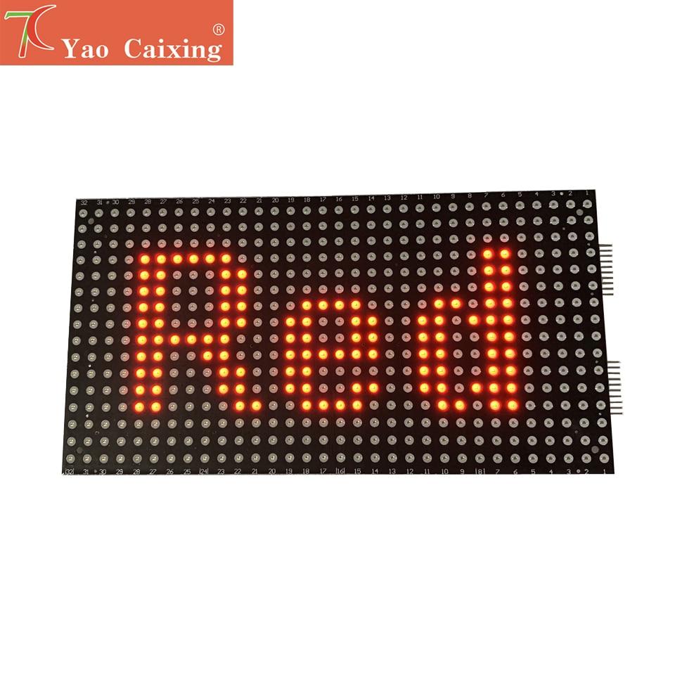 COB Series P7.62 Single Red Slim Panel 32x16pixels Led Sign Board