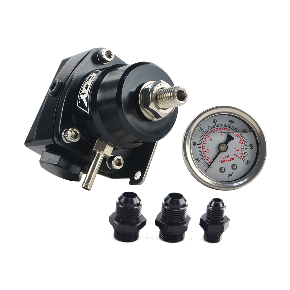 Image 5 - FREE SHIPPING AN8 high pressure fuel regulator w/ boost  8AN 8/8/6 EFI Fuel Pressure Regulator with gauge WLR7855-in Oil Pressure Regulator from Automobiles & Motorcycles