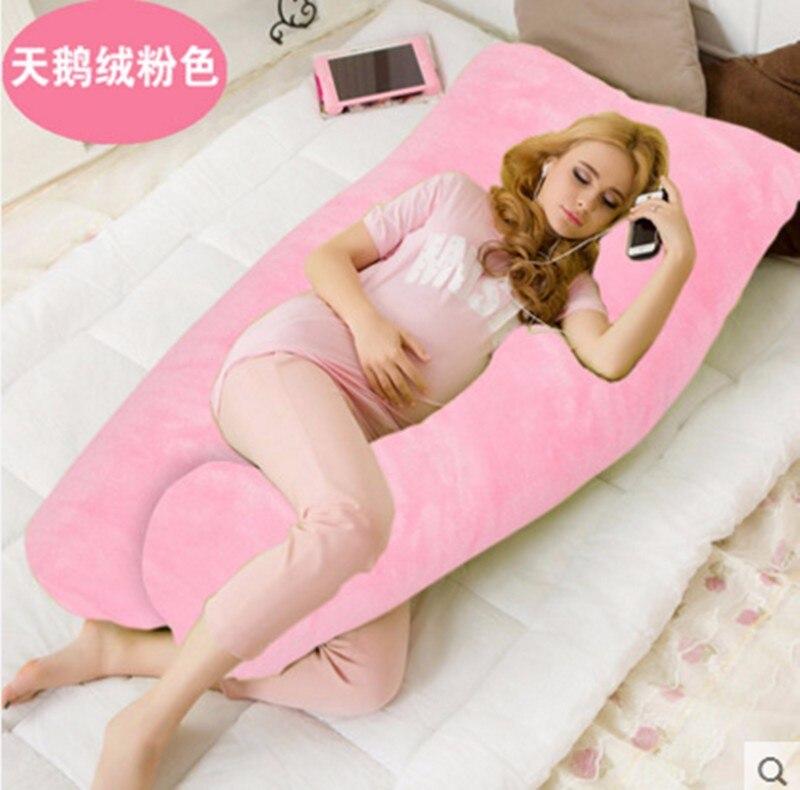 Бархат типа u подушки Средства ухода за кожей Подушка для беременных Для женщин сбоку слиперы талии подушка в том числе наполнитель 5 цветов