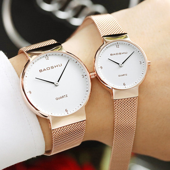 цена на MIARA.L new simple watch Korean fashion waterproof steel band quartz watch female casual lovers watch