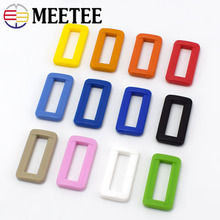 50pc/100pc Meetee 25mm Plastic Buckles Belt Loop Adjustable D Ring Buckle for Backpack Strap Web Bags Cat Dog Collar Accessories цена