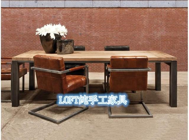 Tavolo Da Pranzo Industriale : Kr francese stile industriale dell annata ferro tavolo da pranzo