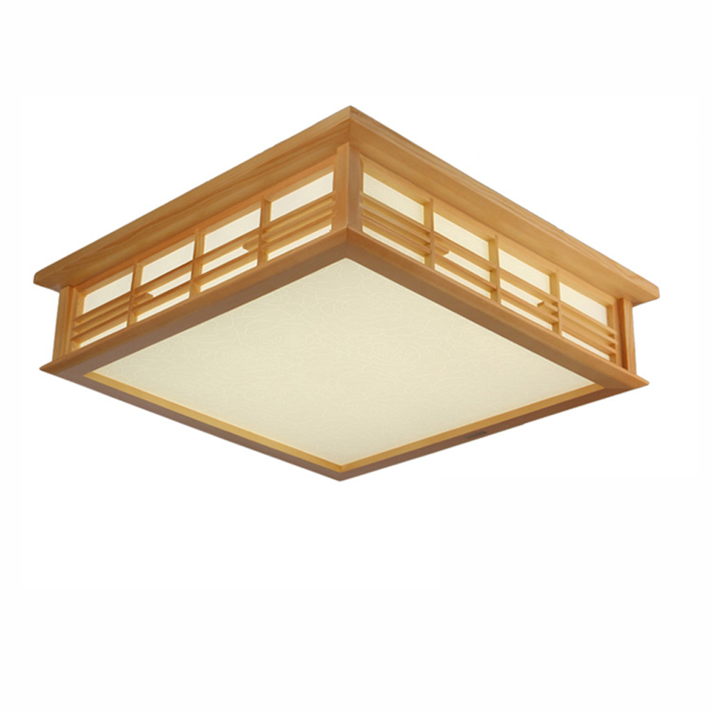 Janpanese LED Wooden Bedroom Ceiling Lamps Modern Study Room Ceiling Light Living Room Restaurant Ceiling Lamp Fixtures