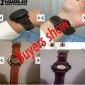 Nova arrivalsCrazy pulseira de couro de cavalo com aço inoxidável substituir 26 MM Garmin Derek Fenix3 Fenix 3 faixa de relógio pulseira 5 color