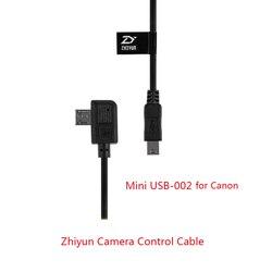Zhiyun kabel sterowania kamerą Mini USB do kabel Mini USB ZW-Mini-002 dla Canon 5D2/5D3 kamery