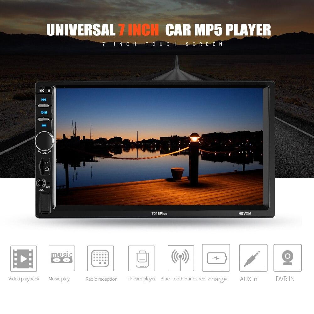 2 الدين راديو السيارة 7 بوصة مشغل وسائط متعددة عالمية HD بلوتوث MP5 وسائل الإعلام TF FM 7018PLUS|مشغل وسائط السيارة|   - AliExpress