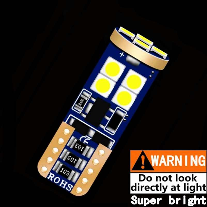 New 100% CANBUS NO ERROR T10 LED Car Parking Light Super Bright 3030 SMD W5W WY5W 501 Auto Reading Lamp Wedge Tail Side Bulb 12V
