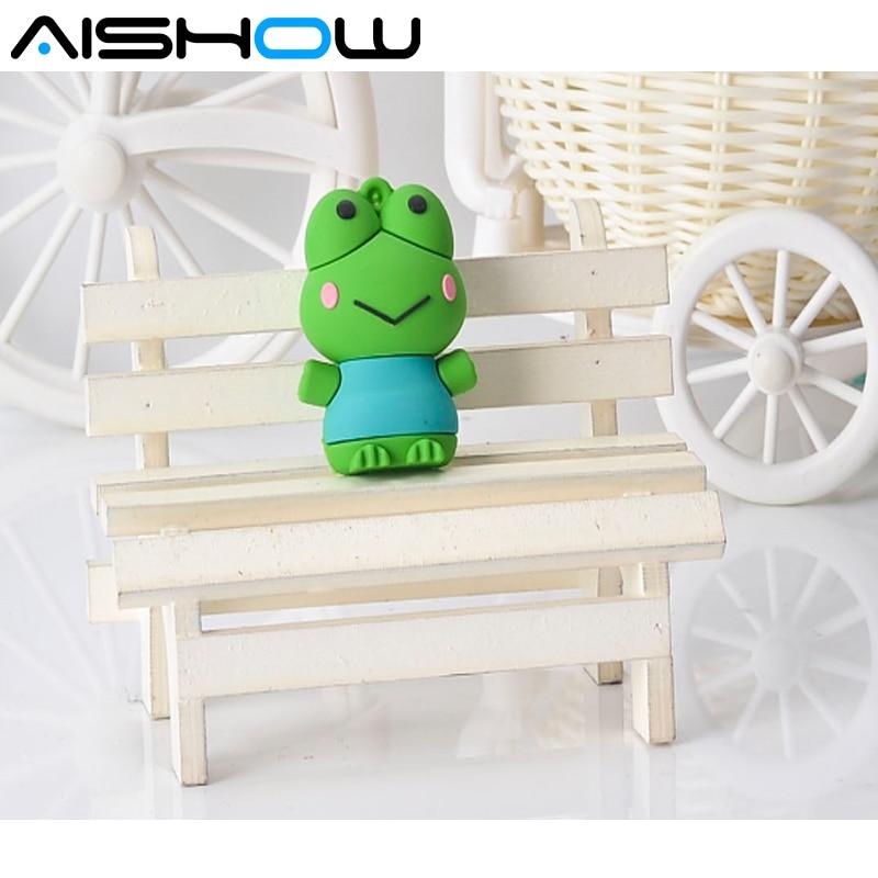 mini pen drive frog animal gift pen drive 8gb 16gb 32gbb cartoon usb flash drive memory card stick pendrive