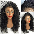 Virgin Brazilian Hair Curly Full Lace Wig Glueless Full Lace Human Hair Wig Deep Curly Human Hair Lace Front Wigs With Baby Hair