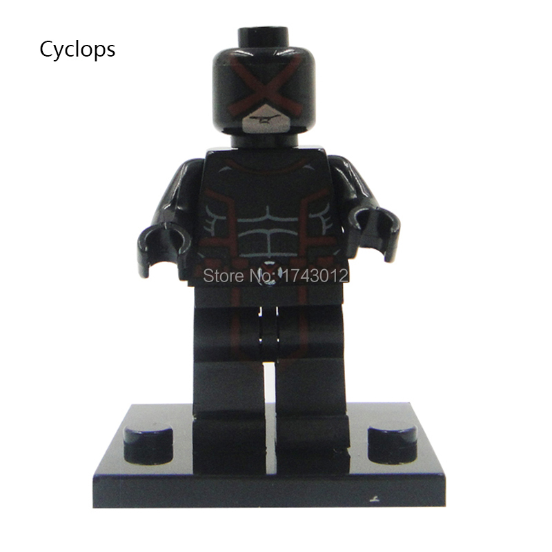 30Pcs Building Blocks Super Heroes Cyclops Cable Magneto Agent Venom Doctor Doom Batwoman Penguin Bricks Kids Gift Toys XH 143
