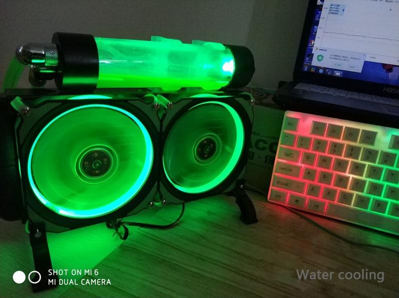 DIY Gaming Laptop Water Cooling System Kit Aluminum Notebook Cooler Radiator Pump Reservoir Heat Sink 240mm Row For PC Computer