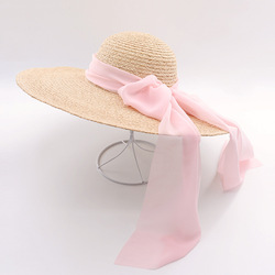 Muchique wide brim raffia straw hats for women fashion summer beach hats with chiffon ties sun.jpg 250x250