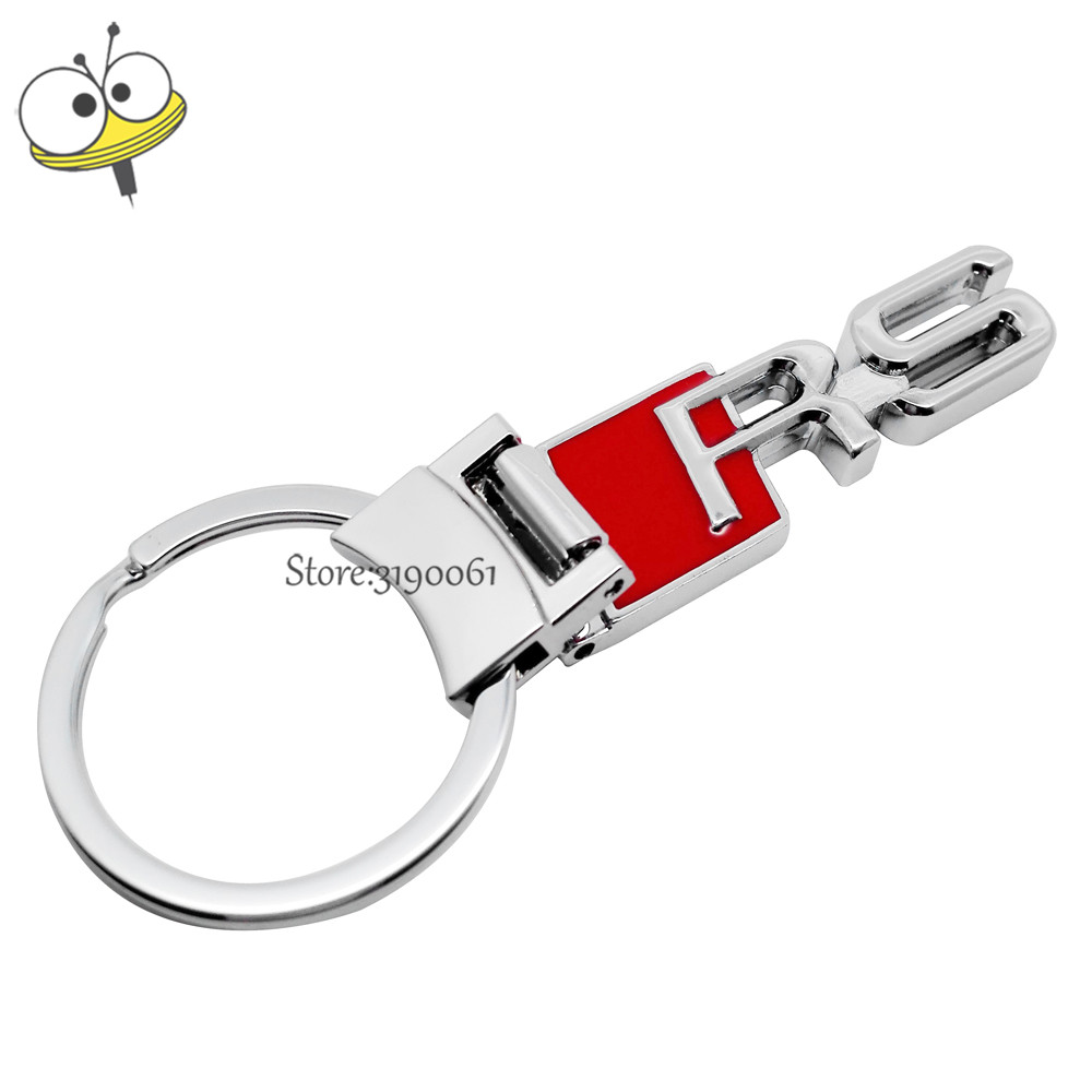 Car Accessories Metal Car Keychain Key Rings Key Decoration For RS Logo Audi RS3 RS4 RS5 RS6 RS7 TT A3 A4 A5 S3 S5 S7 Q3 Q5 Q7