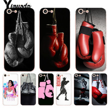 Yinuoda For iphone 7 6 X Case Cartoon Boxing Girl Gloves Pattern tpu Soft Phone Cover Case for iPhone 8 6S Plus X 5 5S XS XR 4S girl pattern glow in the dark protective tpu back case for iphone 4 4s white light pink