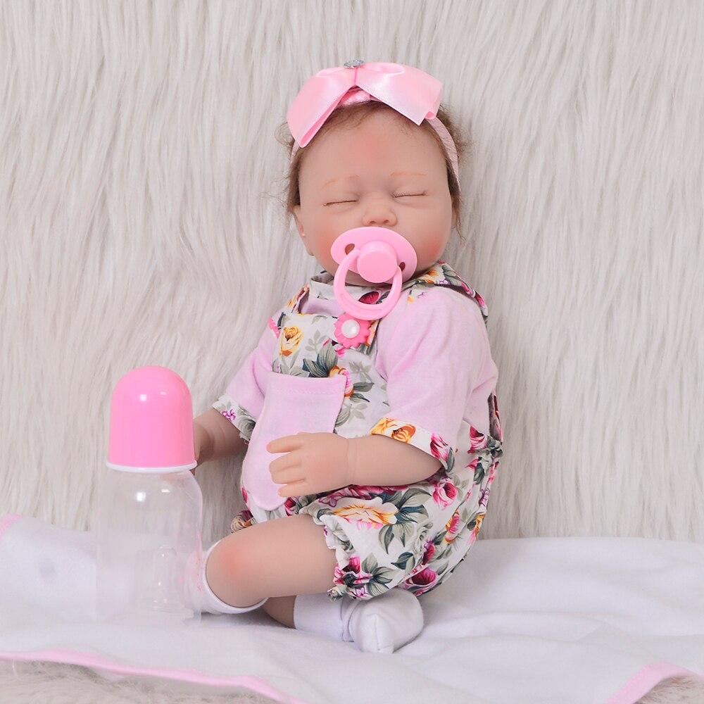 KEIUMI 17 Cal zamknij oczy Reborn Boneca realistyczne miękkie silikonowe noworodka Menina Reborn lalka z żyrafa Partner mogę zaoferować ekskluzywne zabawki w Lalki od Zabawki i hobby na  Grupa 2