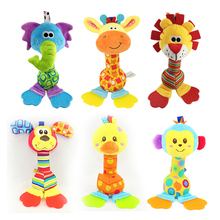 5 Styles Baby Toys Developmental Rattles Toy Newbron Animal Hand Bells  Bed Crib Hanging Stroller Plush Appease Toddler