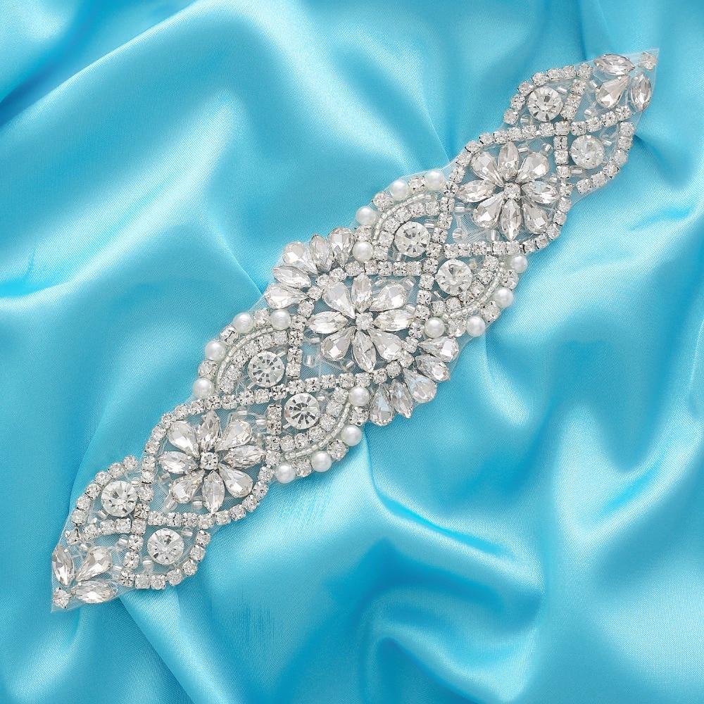Crystal Wedding Belt Pearl Bridal Belt Rhinestones Sash For Bridal Accessories Silver Gold And Rose Gold Only Applique NZUK