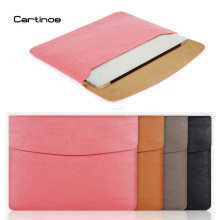 Cartinoe PU Leather Case for MacBook Air 11 13 Pro 15 Retina 12 inch Laptop Bag Sleeve Notebook Carry Bag for Macbook Case Pouch цены