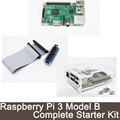 5 IN 1 Raspberry Pi 3 Model B 1GB RAM + 2 heat sinks + Pi Cobbler GPIO + 1 board case l+1pcs cable