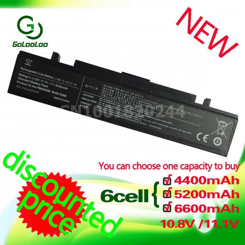 Golooloo 11.1v 6cell Laptop Battery For Samsung PB9NC6B NP355V5C E372 P230 P480 AA PB9NC6B P510 AA-PB9Ns6B P580 Q230 AA-PB9NC6B