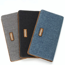 Canvas Denim Men's Long Wallet Fashion Casual Business Male Student Jean Fabric Money Purse With Card Holder Wallets 2 Fold