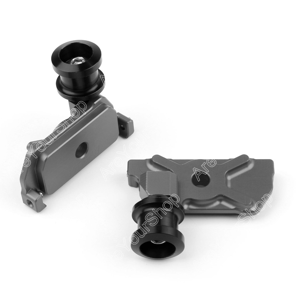 Areyourshop Sale For Yamaha YZF-R25 2015 Motorcycle CNC Swingarm Spools Adapters Mounts Gray Color ...