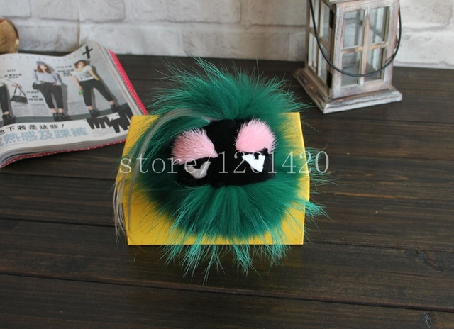 100%Genuine Fox Fur Monster Bag Bugs handmade handbags Charms fur bag bugs